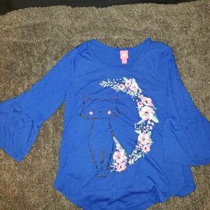 Girls 3/4 sleeve shirt